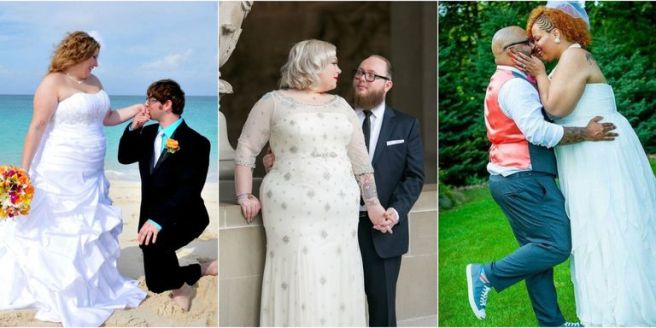 plus sized brides